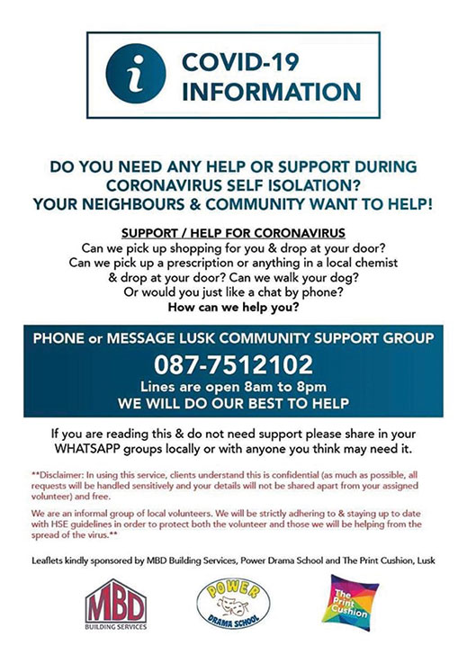 Lusk Community Volunteers – still here for you