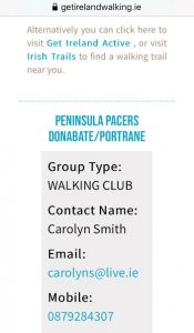 Penninsula Pacers and Get Walking Ireland