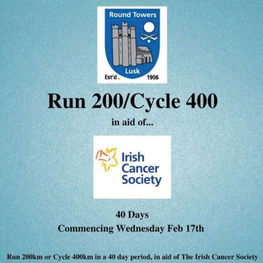 Round Towers GFC run/cycle for the Irish Cancer Society