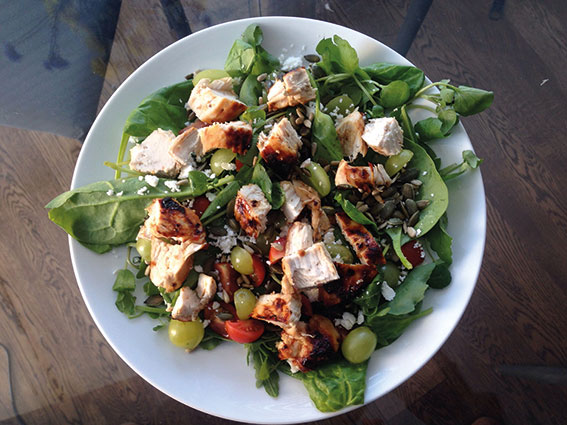 Niamh's Grilled Chicken and Grape Salad