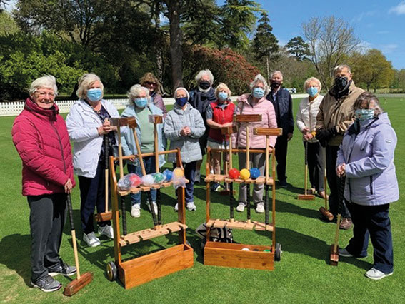 Croquet is back in play for AAfA members and our thanks to FCC