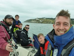 Sea Scouts sailed into Dublin Port recently